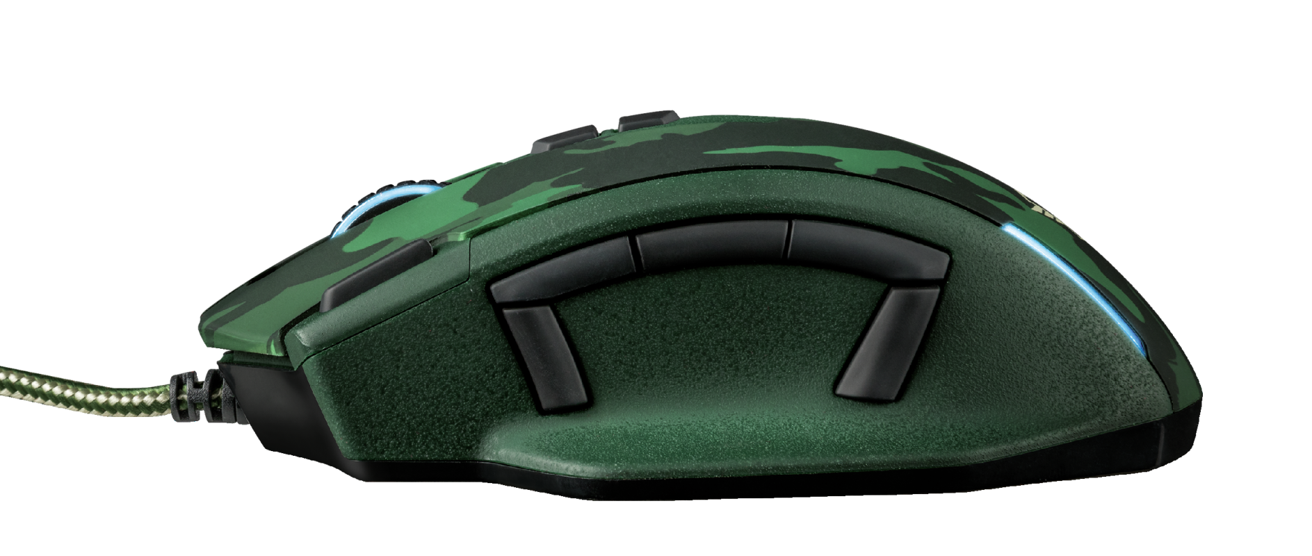 GXT 155C Caldor Gaming Mouse - green camouflage-Side