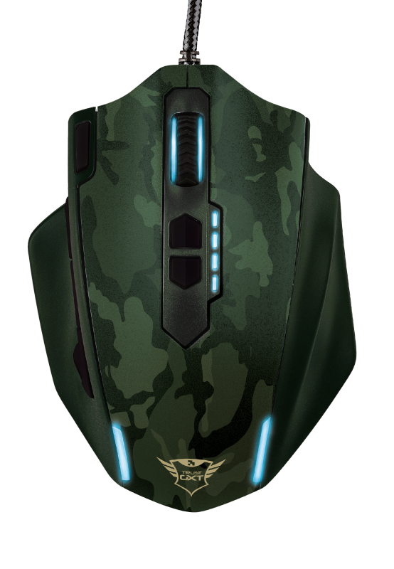 GXT 155C Caldor Gaming Mouse - green camouflage-Top