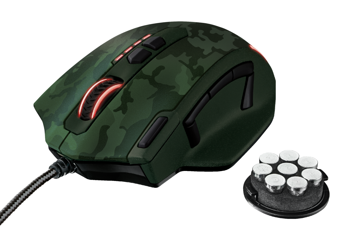 GXT 155C Caldor Gaming Mouse - green camouflage-Visual
