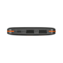 PowerBank 8000T Thin Portable Charger - black-Front