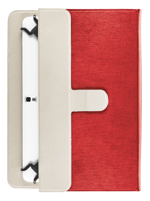 """Aexxo Universal Folio Case for 10.1"""" tablets - red-Extra"""