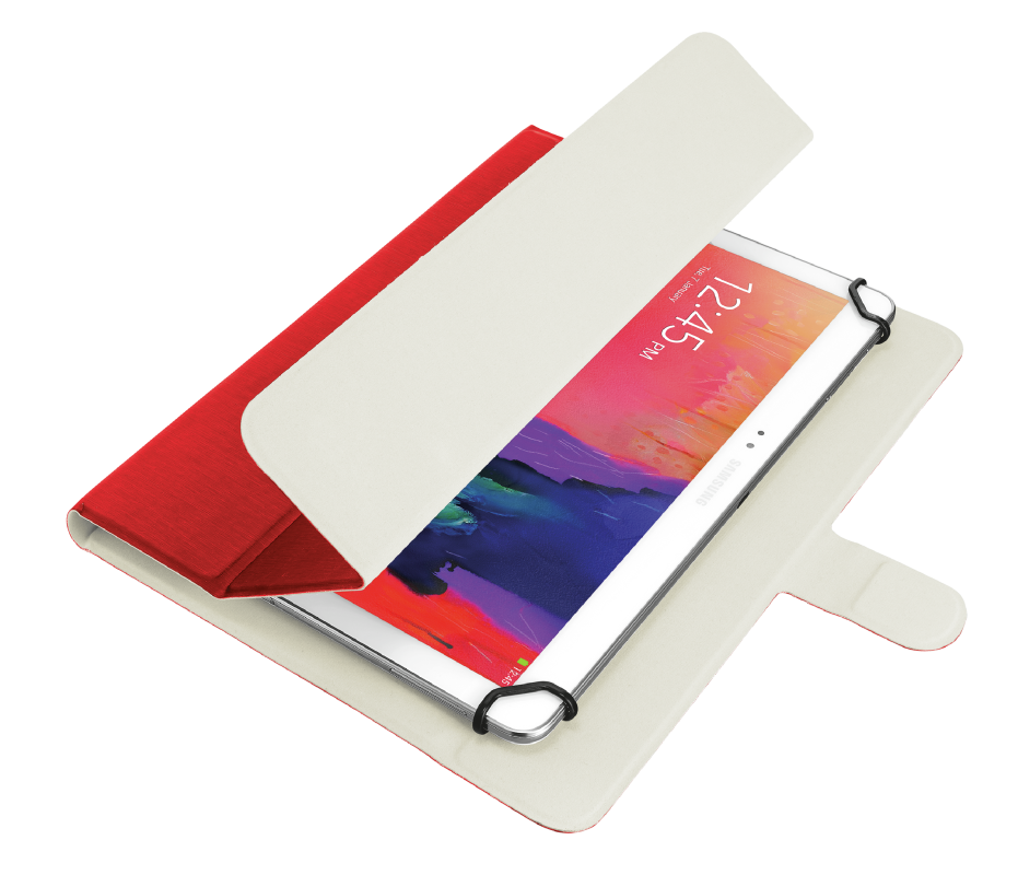 """Aexxo Universal Folio Case for 10.1"""" tablets - red-Visual"""