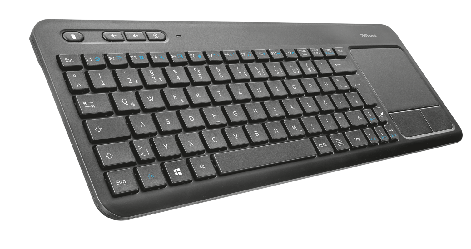 All-in-One Multimedia Keyboard with Touchpad-Visual