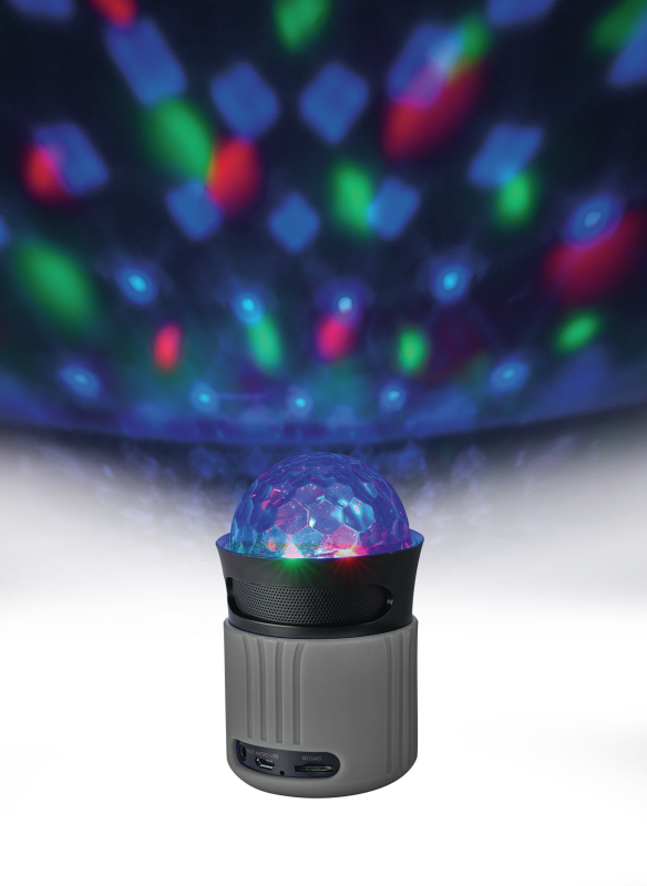 Dixxo Go Wireless Bluetooth Speaker with party lights - grey-Visual