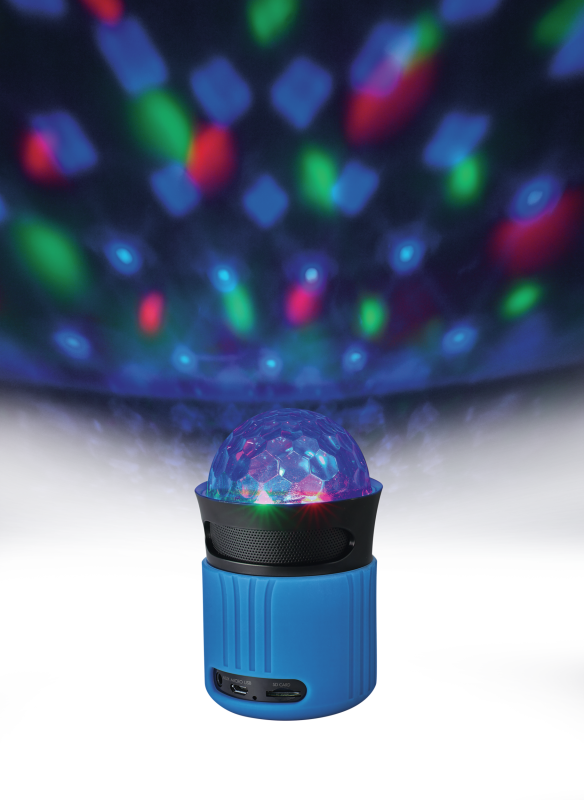 Dixxo Go Wireless Bluetooth Speaker with party lights - blue-Visual