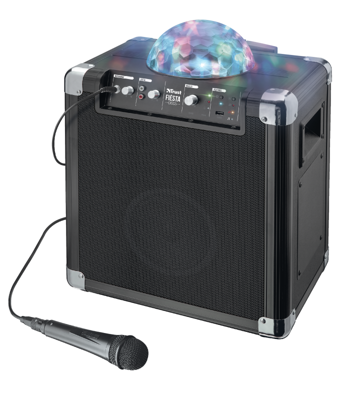 Fiësta Disco Wireless Bluetooth Speaker with party lights-Visual