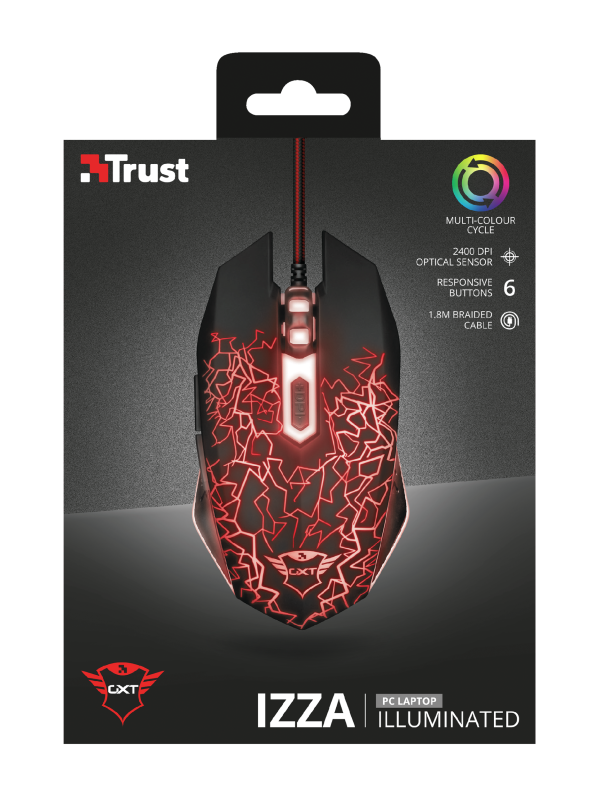 🦂MOUSE GAMER ⚡ ALAMBRICO GXT 105 IZZA - mouse, asys-computadores-asyscom, accesorios - 21683 pictures package front 1