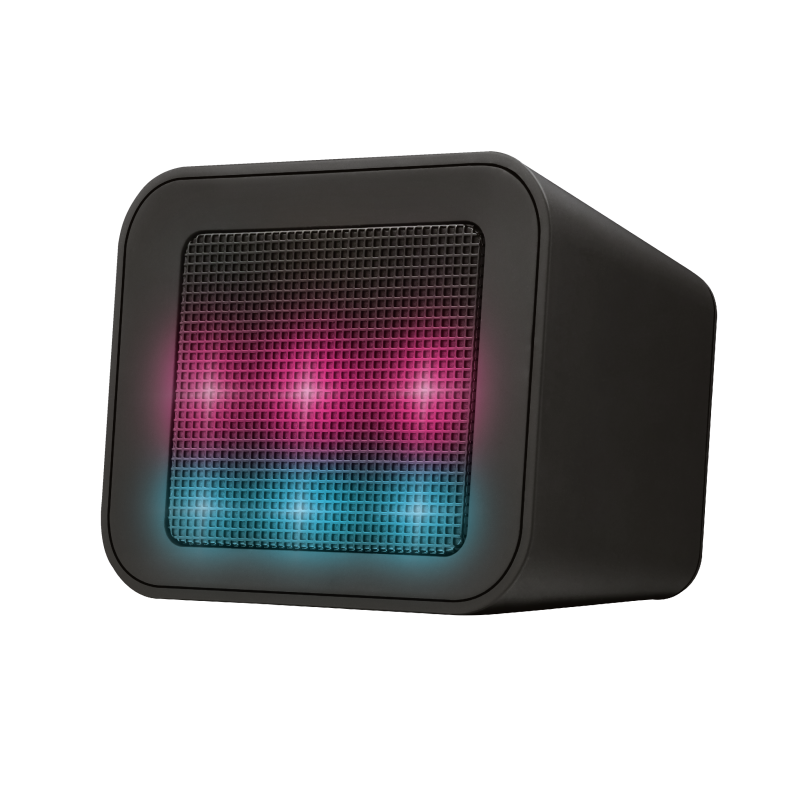 Dixxo Cube Wireless Bluetooth Speaker with party lights-Visual