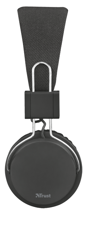 Ziva Foldable Headphones for smartphone and tablet - black-Side