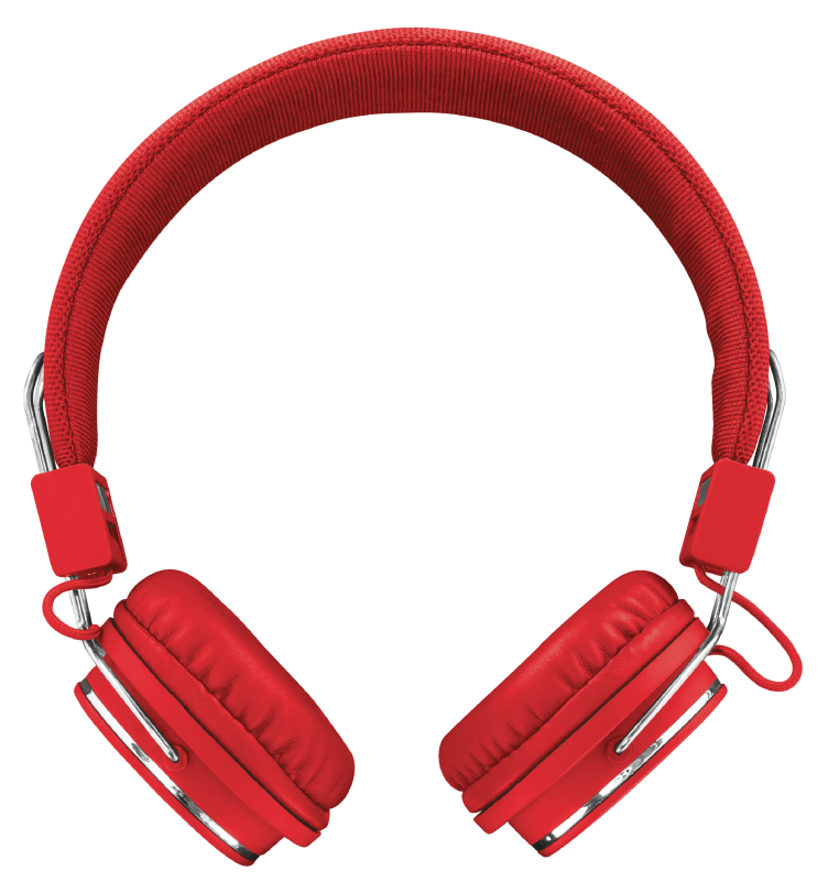 Ziva Foldable Headphones for smartphone and tablet - red-Front