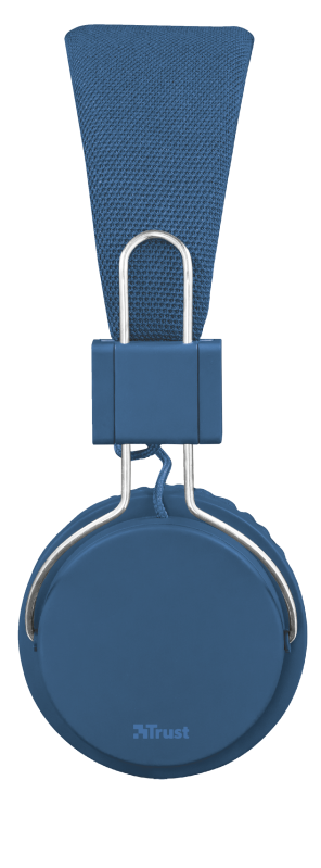 Ziva Foldable Headphones for smartphone and tablet - blue-Side