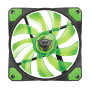 GXT 762G LED Illuminated silent PC case fan - black/green-Front