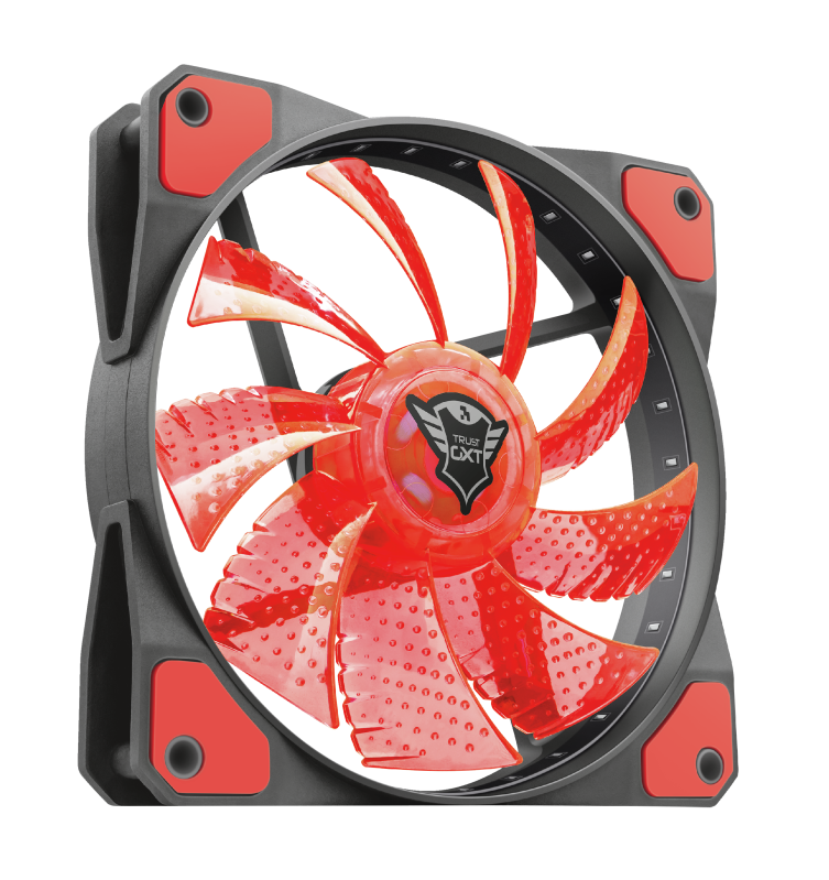 GXT 762R LED Illuminated silent PC case fan - black/red-Visual