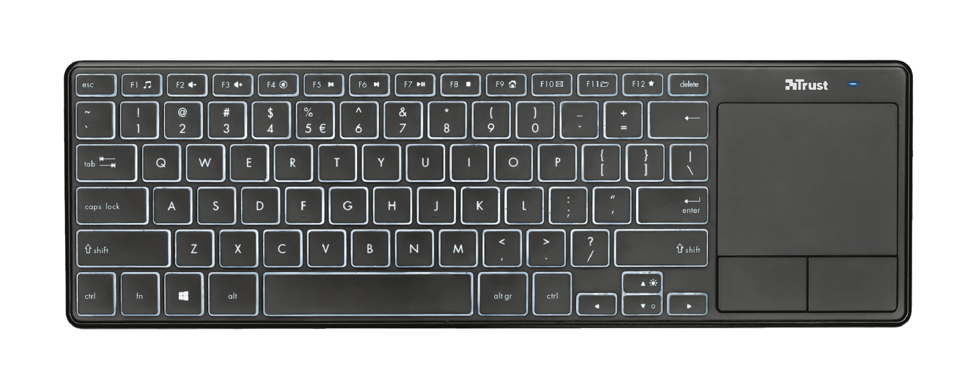 Theza Wireless Keyboard with touchpad-Top