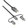 3-in-1 micro-USB USB-C Lightning cable 480Mbps 1m-Visual