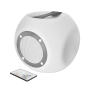 Lara Bluetooth Wireless Speaker with multi-colour party lights - white-Visual