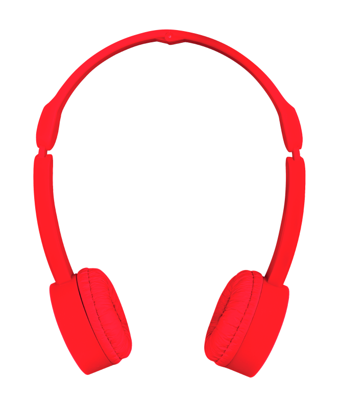 Nano Foldable Headphones - red-Front