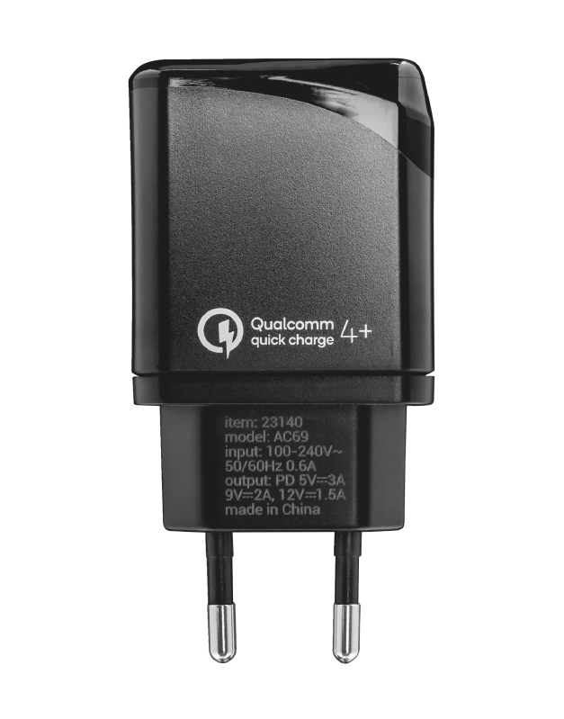 Velox18 Advanced Ultra-Fast USB-C Wall Charger with PD3.0 & QC4+-Side