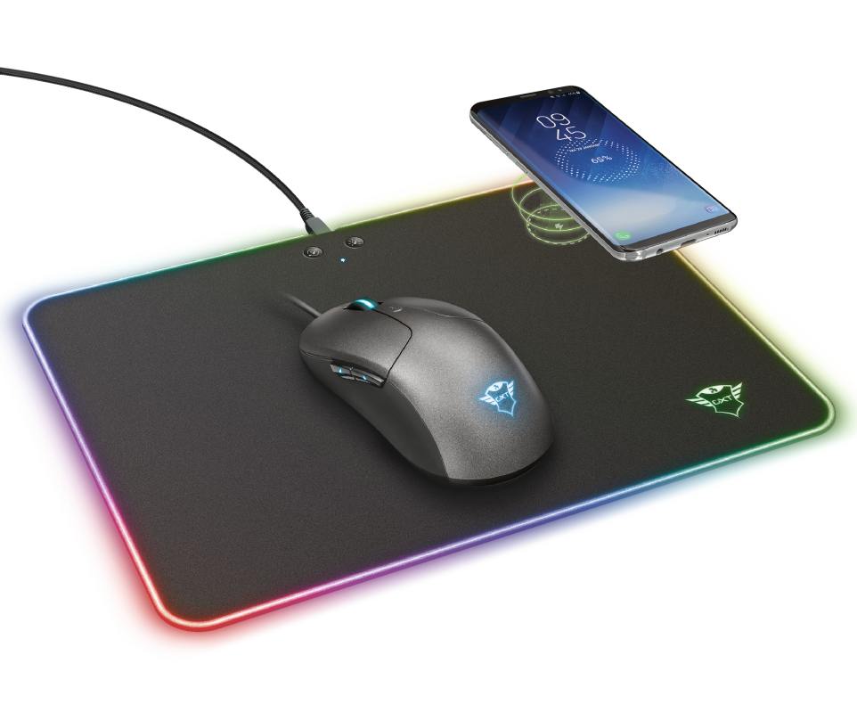 GXT 750 Qlide RGB Gaming Mouse Pad with wireless charging M-Visual