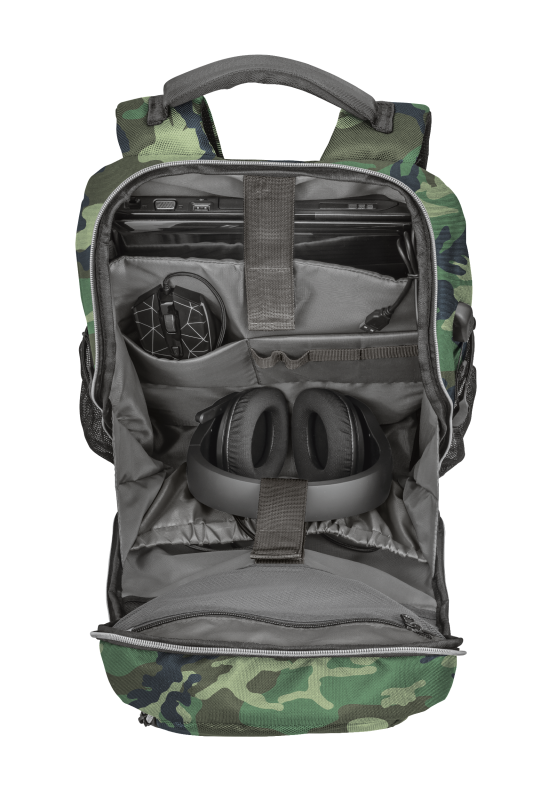 """GXT 1255 Outlaw Gaming Backpack for 15.6"""" laptops - camo-Extra"""