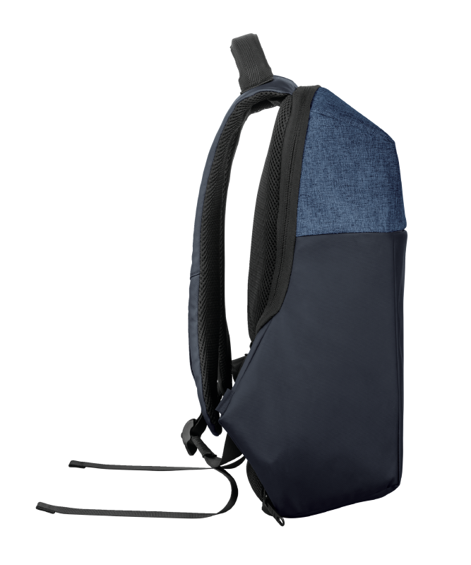 """Nox Anti-theft Backpack for 16"""" laptops - blue-Side"""