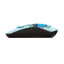 Sketch Silent Click Wireless Mouse - cyan blue-Side