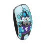 Sketch Silent Click Wireless Mouse - cyan blue-Visual