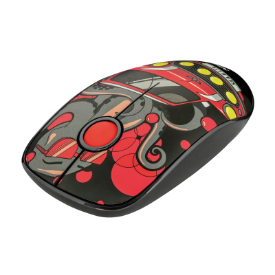 Sketch Silent Click Wireless Mouse - red-Visual