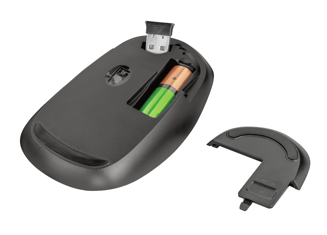 Sketch Silent Click Wireless Mouse - yellow-Bottom