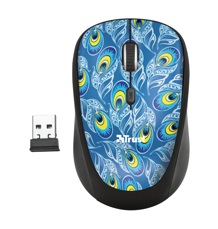 Yvi Wireless Mouse - peacock-Top