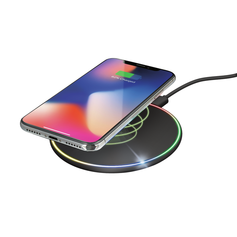 Lumo10 RGB Fast Wireless Charger 7.5W/10W for smartphones-Visual