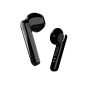 Primo Touch Bluetooth Wireless Earphones - black-Visual
