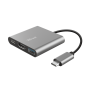 Dalyx 3-in-1 Multiport USB-C Adapter-Visual