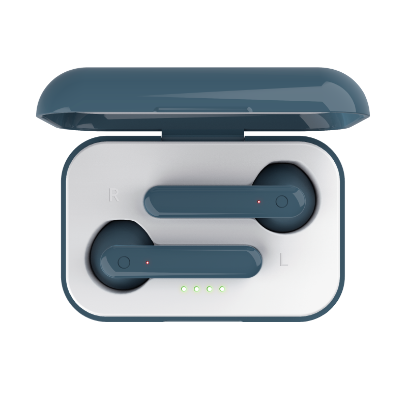 Primo Touch Bluetooth Wireless Earphones - blue-Top