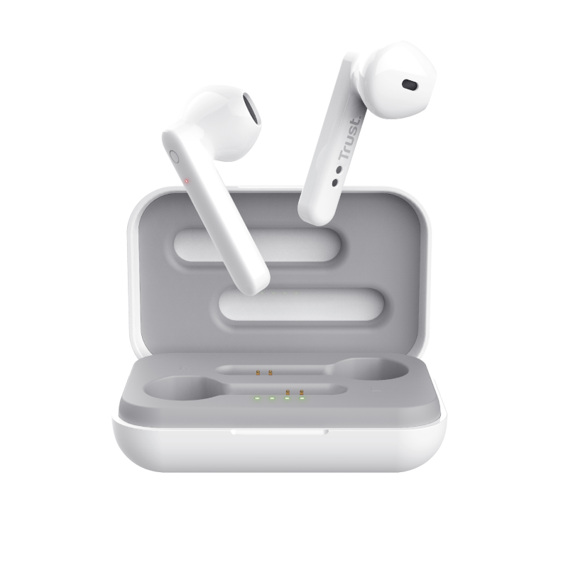 Primo Touch Bluetooth Wireless Earphones - white-Front