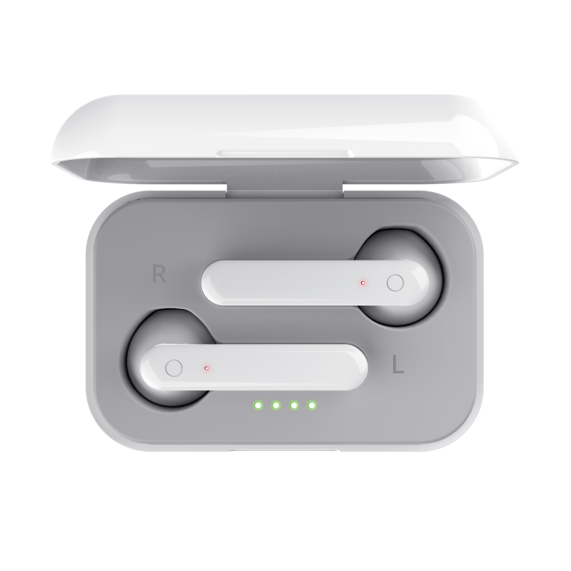 Primo Touch Bluetooth Wireless Earphones - white-Top