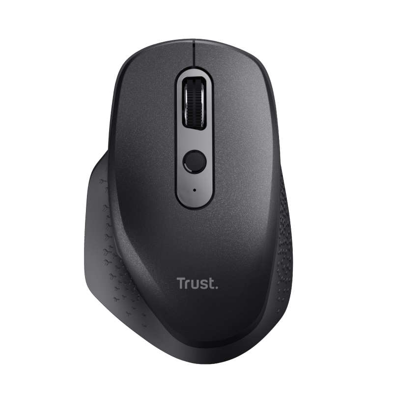 Ozaa Rechargeable Wireless Mouse - black-Top