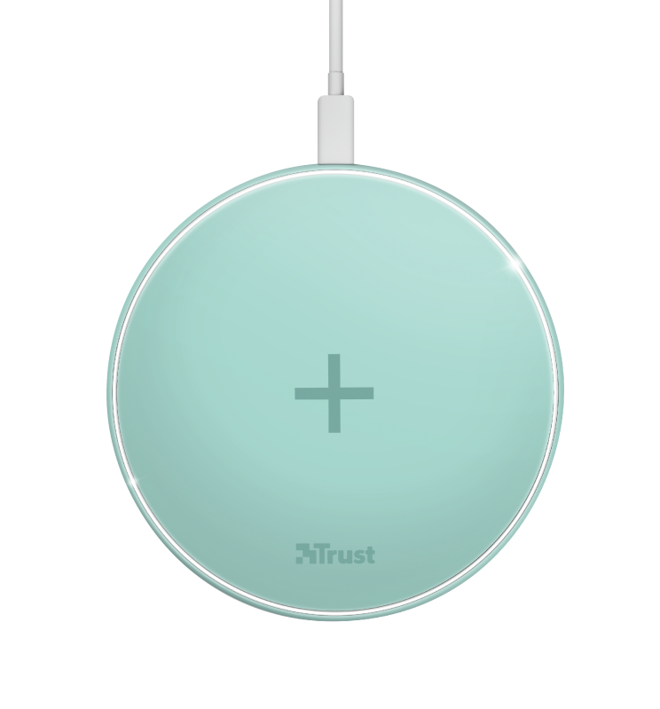 Qylo Fast Wireless Charging Pad 7.5/10W - turquoise-Top