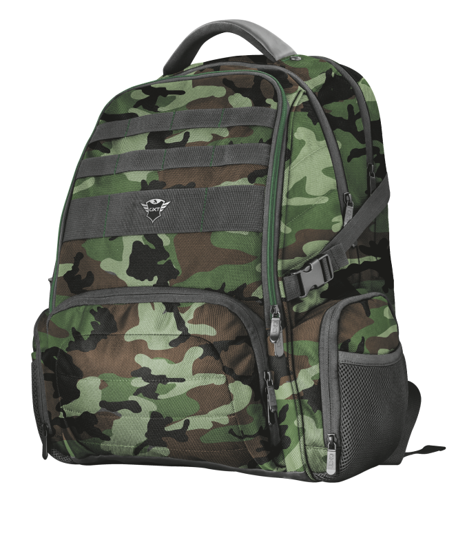"""GXT 1250G Hunter Gaming Backpack for 17.3"""" laptops - green camo-Visual"""