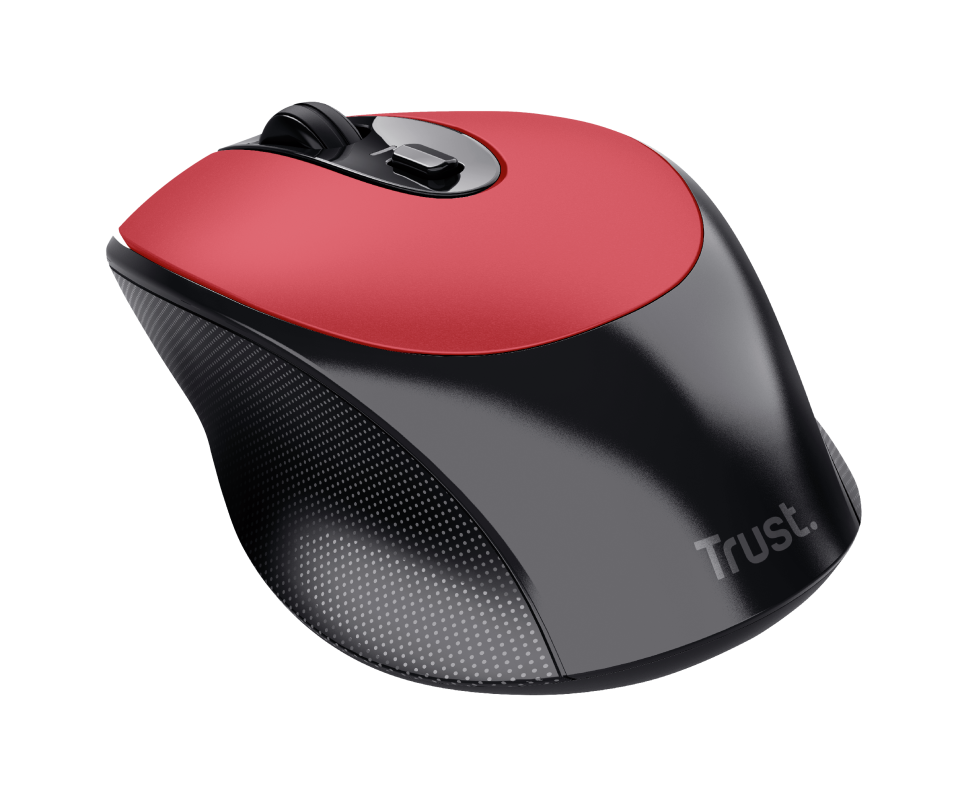 Zaya Rechargeable Wireless Mouse - red-Visual