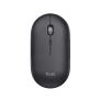 Puck Rechargeable Bluetooth Wireless Mouse - black-Top