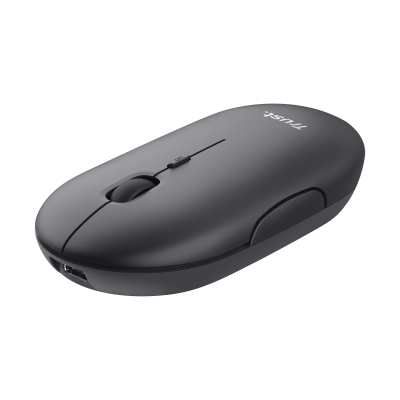 Puck Rechargeable Bluetooth Wireless Mouse - black-Visual