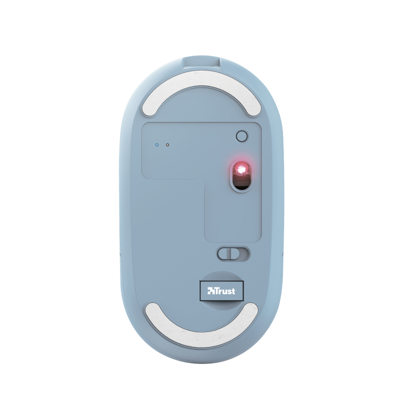 Puck Rechargeable Bluetooth Wireless Mouse - blue-Bottom
