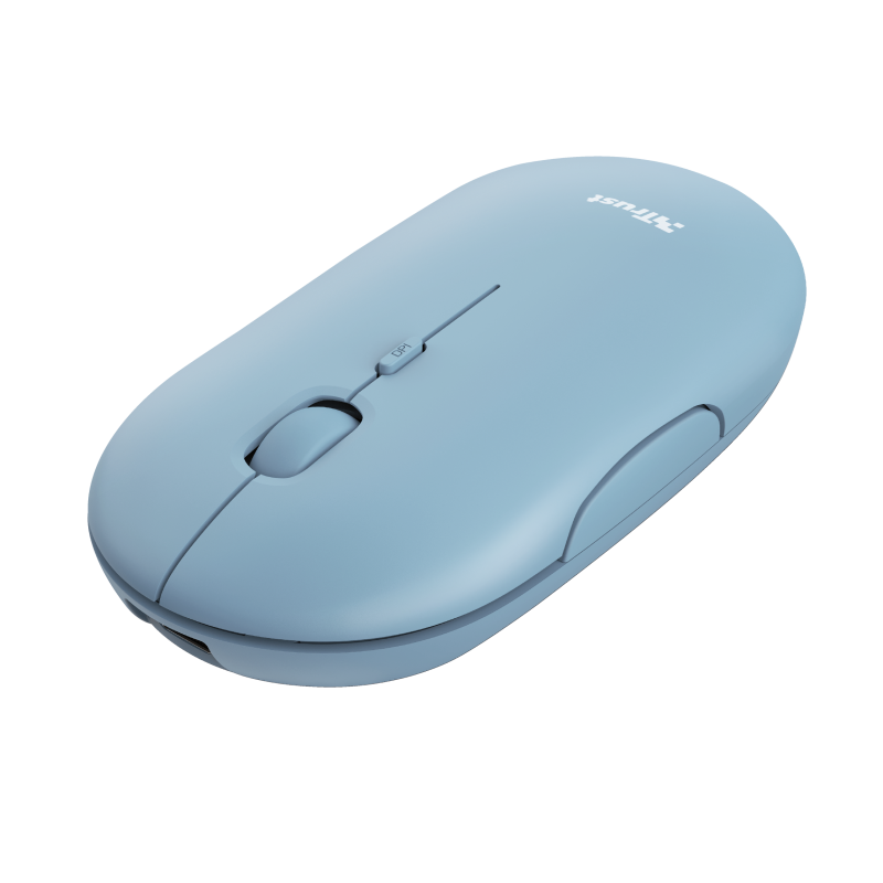 Puck Rechargeable Bluetooth Wireless Mouse - blue-Visual