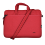 Bologna Slim Laptop Bag 16 inch Eco - red-Front