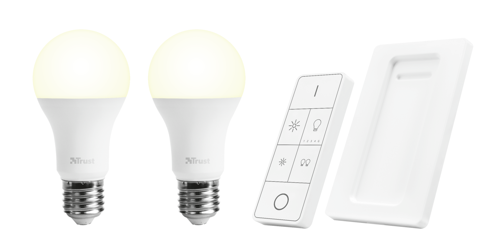 Wireless Dimmable LED Bulbs & Remote Control Set ALED2-2709R-Visual