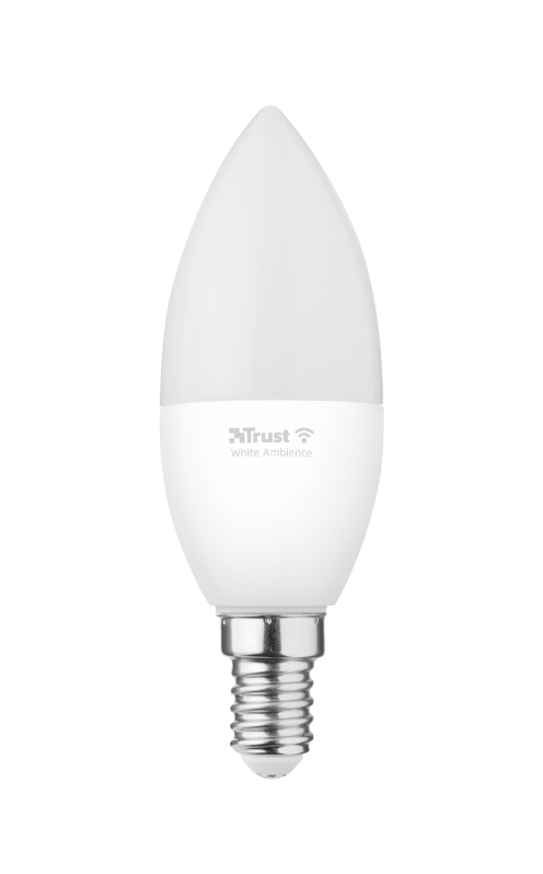 Smart WIFI LED Candle White Ambience E14-Front